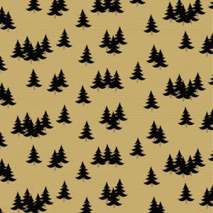 Kerst Kraft papier Zwarte Kerstbomen
