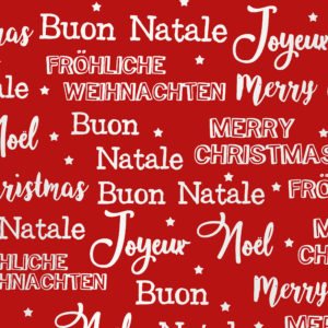 Cadeaupapier Merry Christmas Metallic Rood Wit