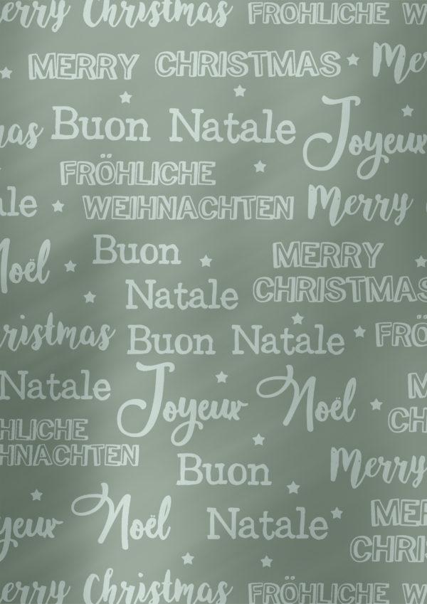 Cadeaupapier Merry Christmas Grijs