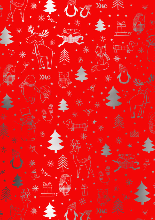 Rood Kerst cadeaupapier All I Want