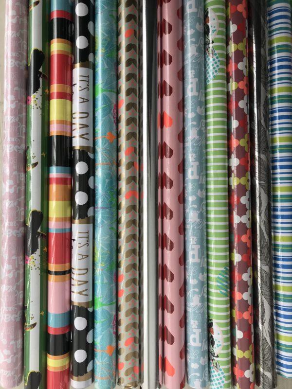 14 kleine rollen Cadeaupapier - Assorti - Multi Mix