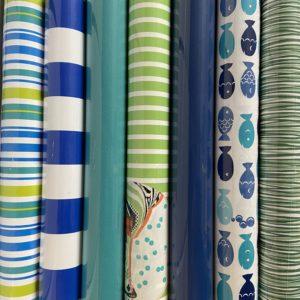 Cadeaupapier 6 rolletjes 200x70cm Blauw Groen