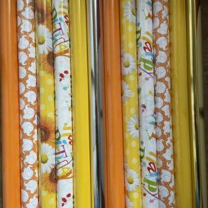Cadeaupapier Geel & Oranje 12 St. Consumentenrollen