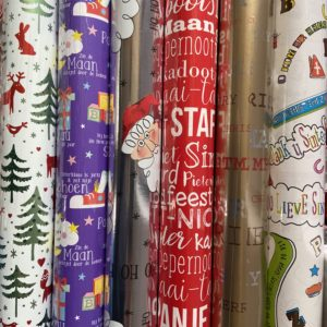 Cadeaupapier Sinterklaas & Kerstmis 6 rolletjes 200x70cm