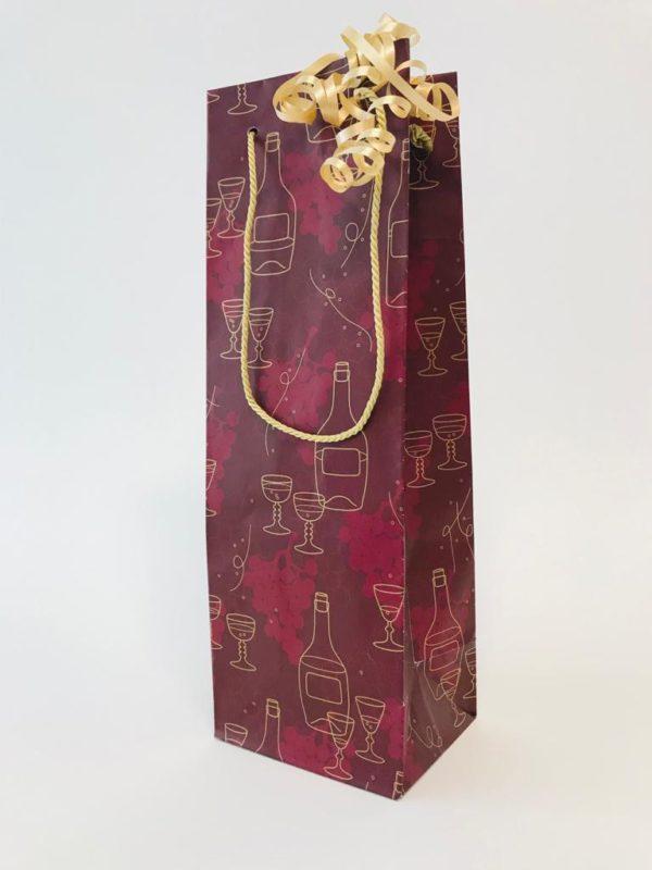 Wijntas Flesverpakking Bordeaux met goud