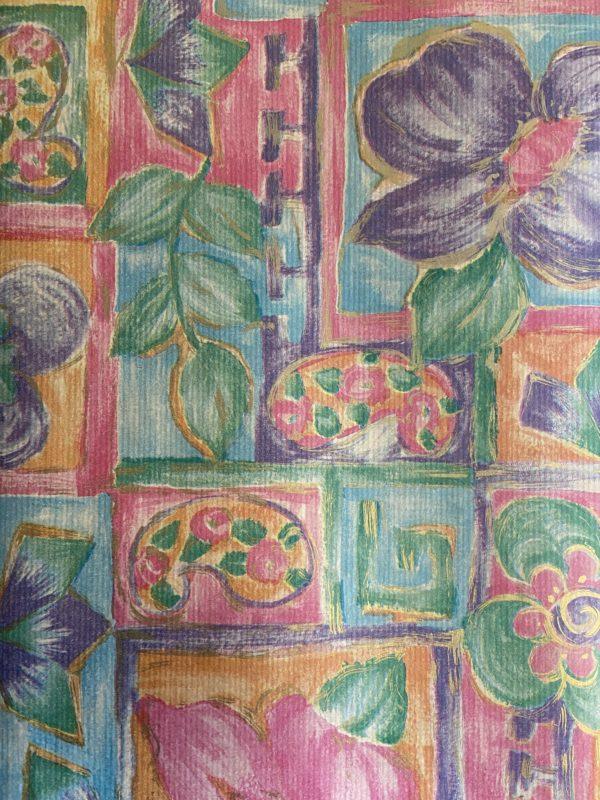 24 Vellen cadeaupapier Fantasie Bloemen 50x70cm