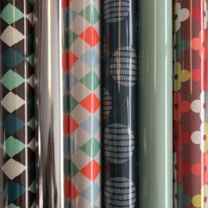 6 rolletjes Cadeaupapier Blauw Neon