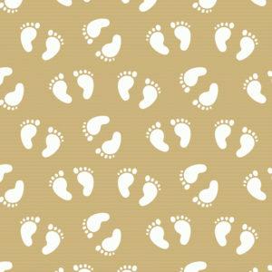 Bruin Kraftpapier Inpakpapier Babyvoetjes Wit