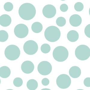 Inpakpapier met grote Mint Bubbels