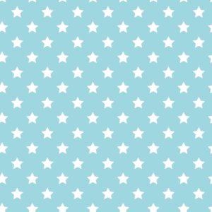 Blauw Cadeaupapier met Witte Sterren