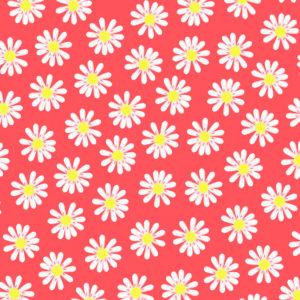 Cadeaupapier inpakpapier Bloemen Madeliefjes Neon