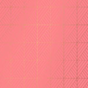Koraal Rood Cadeaupapier Grafische Print