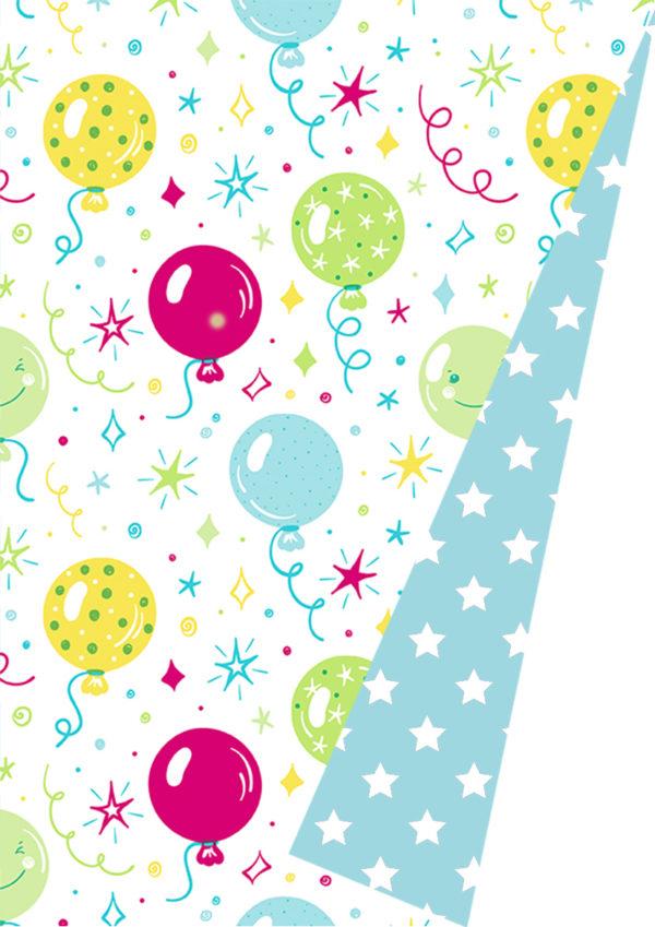 Dubbelzijdig Cadeaupapier Inpakpapier Ballonnenparty