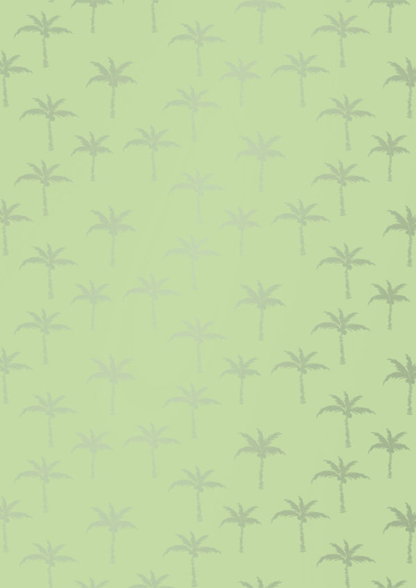Limoengroen Inpakpapier met Zomerse Palmbomen