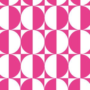 Cadeaupapier Motief van Roze Cirkels