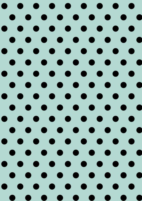 Mint Inpakpapier met Zwarte Stipjes