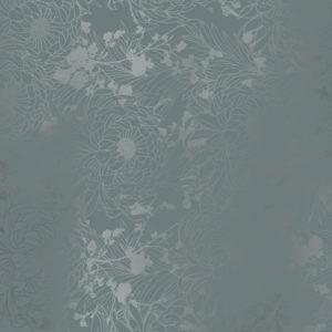 Cadeaupapier Donkergrijs met Metallic Bloemen