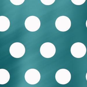 Turquoise Inpakpapier met Witte Stippen