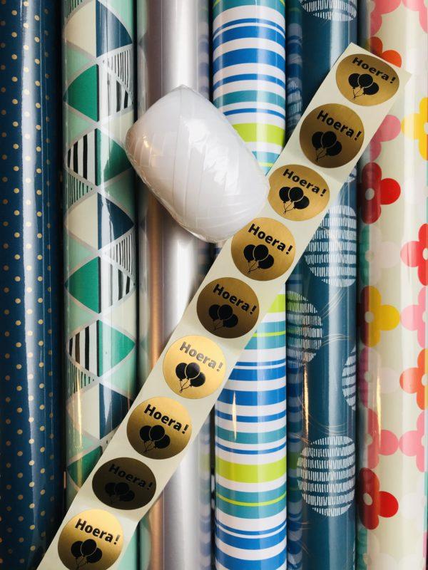 Cadeaupapier Pakket Blauwe Tinten Barcelona