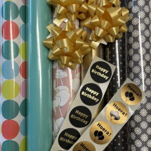 Cadeaupapier Pakket Goud Groen Berlijn