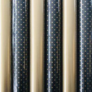 Cadeaupapier Gouden Bom 6 rolletjes