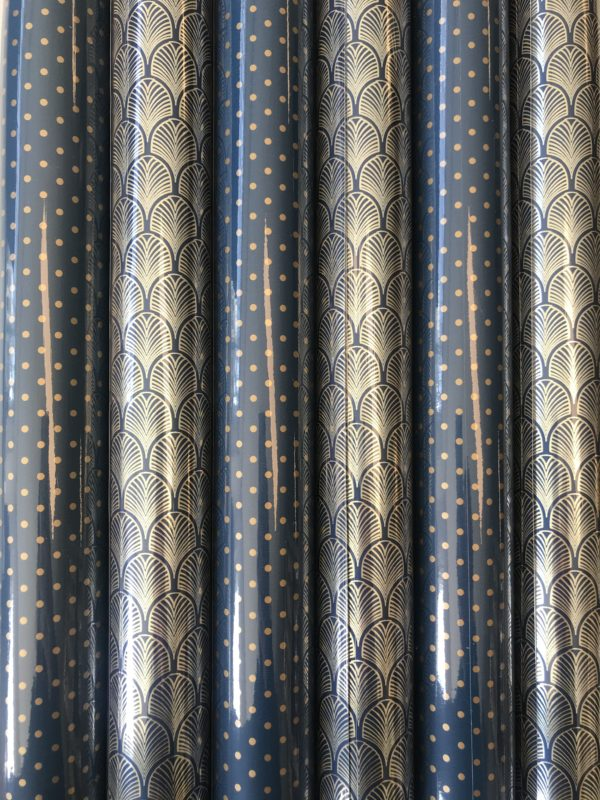 Goud Zwart kadopapier 6 rolletjes