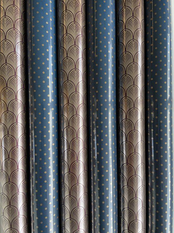 Cadeaupapier Luxe Blauw 6 rolletjes