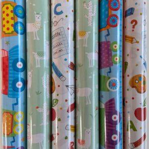 Cadeaupapier Kinder Print 6 rolletjes