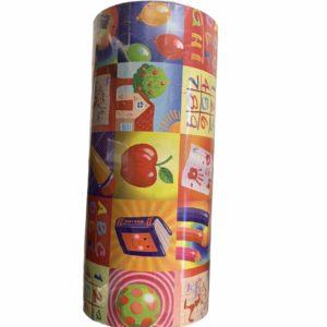 Gekleurd Cadeaupapier met Kinderprint C4116