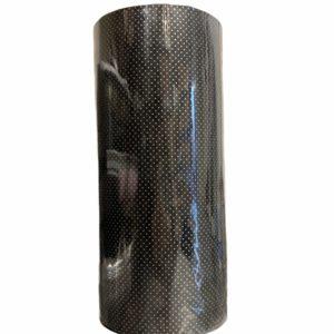 Zwart Cadeaupapier met Stipjes C4121