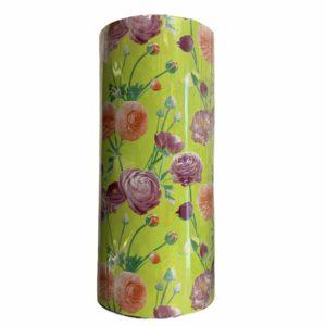 Geel Cadeaupapier met Bloemen C4122