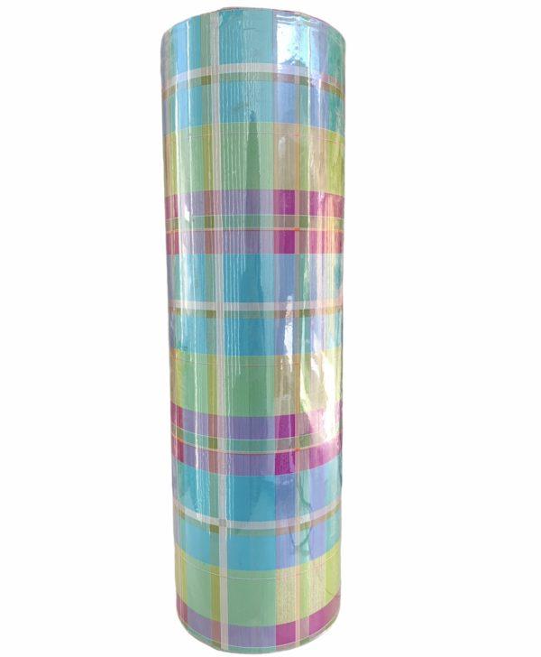 Cadeaupapier gekleurde Ruiten Groen C4138