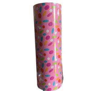 Roze Cadeaupapier Confetti Print C4149