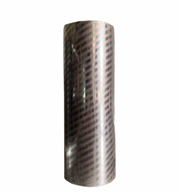 Zilver Inpakpapier Roze Strepen C4150
