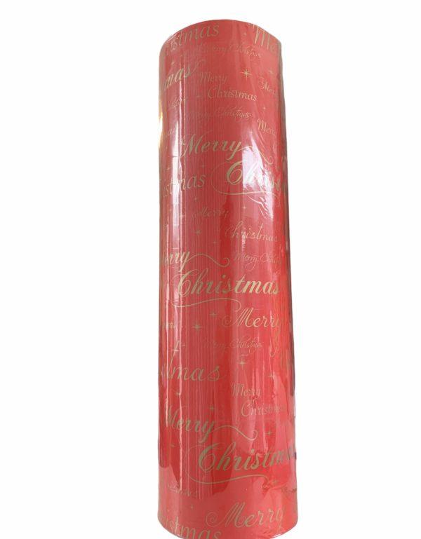 Rood Kerstpapier Merry Christmas C4153