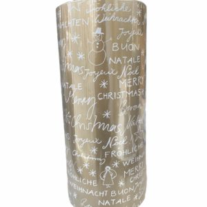 Goud Cadeaupapier Merry Christmas C4158