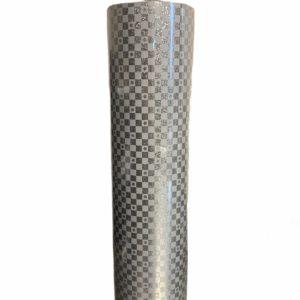 Zilverkleurig Kerstpapier met Sterretjes C4166