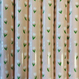 Cadeaupapier Tulpen Roze 6 Rollen