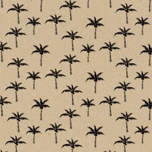 Bruin Kraftpapier Met Zwarte Palmbomen