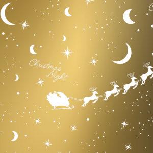 Kerst kadopapier Goud Xmas Nights