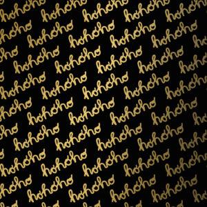 Zwart Goud Kerst Cadeaupapier Hohoho