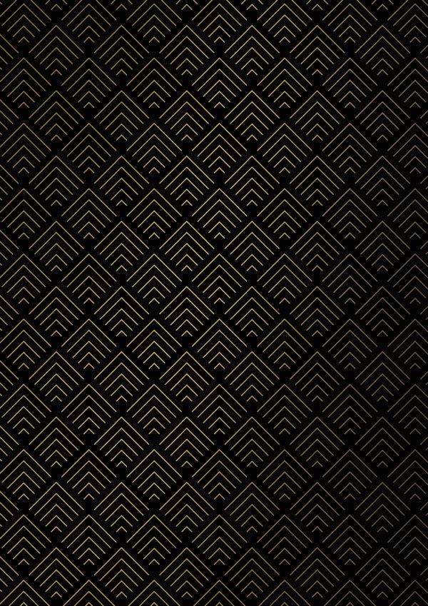 Zwart Goud Cadeaupapier Grafische Vormen
