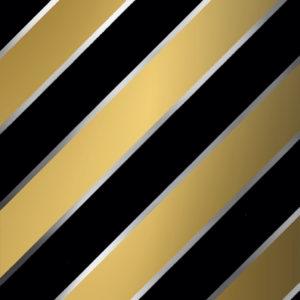 Zwart Goud Cadeaupapier Diagonale Strepen