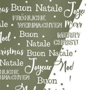 Dubbelzijdig Kerstpapier Merry Xmas Groen