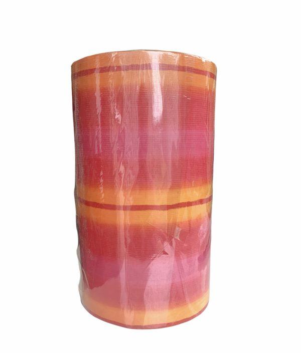 Inpakpapier Strepen Oranje Rood Roze