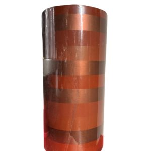 Cadeaupapier Strepen Rood Metalic