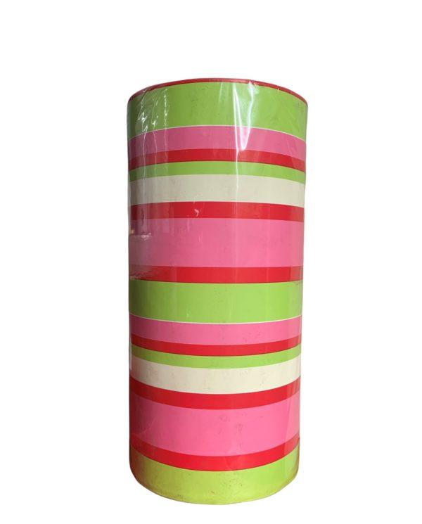 Cadeaupapier Strepen Groen Roze