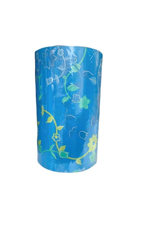Cadeaupapier Blauw Bloemen