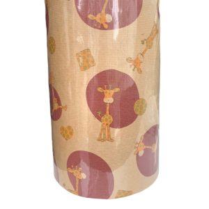 Cadeaupapier Kinderen Giraf Bruin