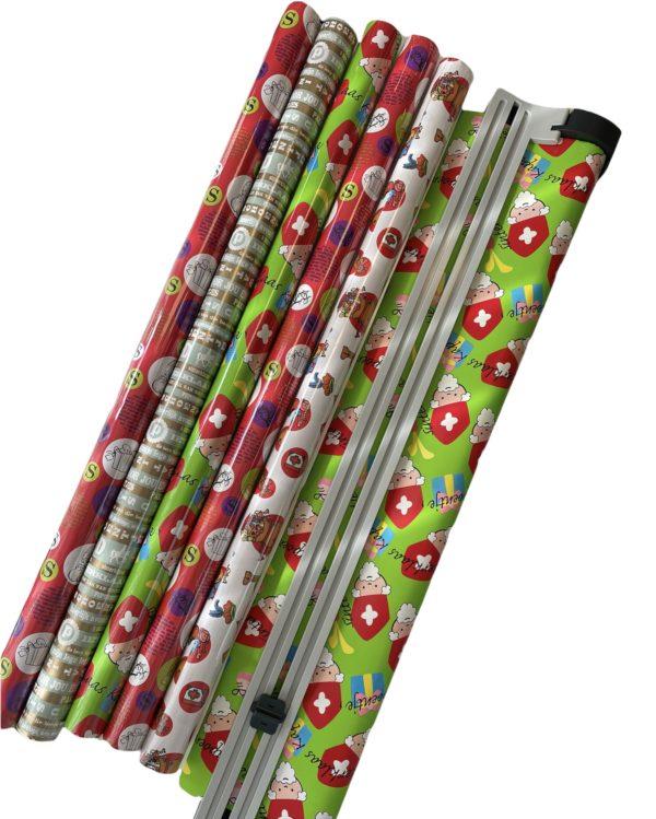 Inpak Set Sinterklaas Cadeaupapier incl Papierafroller/snijder